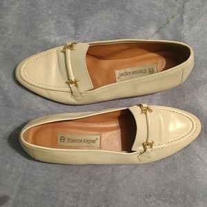 Etienne Aigner cream loafers